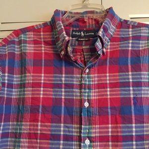 Ralph Lauren Men's XL Plaid Buttondown Shirt